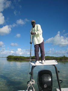 Darin Bain bonefishing guide turks and caicos islands - photo by Marta Morton