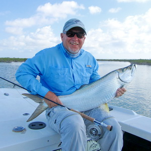 Tarpon caught in the Turks and Caicos Islands with bonefishing guide Darin Bain of J.B.Tours