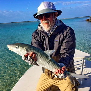 Bonefish caught in the Turks and Caicos Islands with bonefishing guide Darin Bain of J.B.Tours