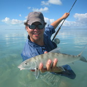 Times of the Island magazine article on bonefishing with guide Darin Bain