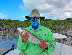 Bonefishing the flats with Darin Bain Providenciales Turks and Caicos Islands
